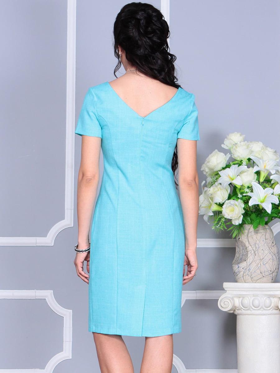Платье светло-бирюзовое | 4137091 | фото 3
