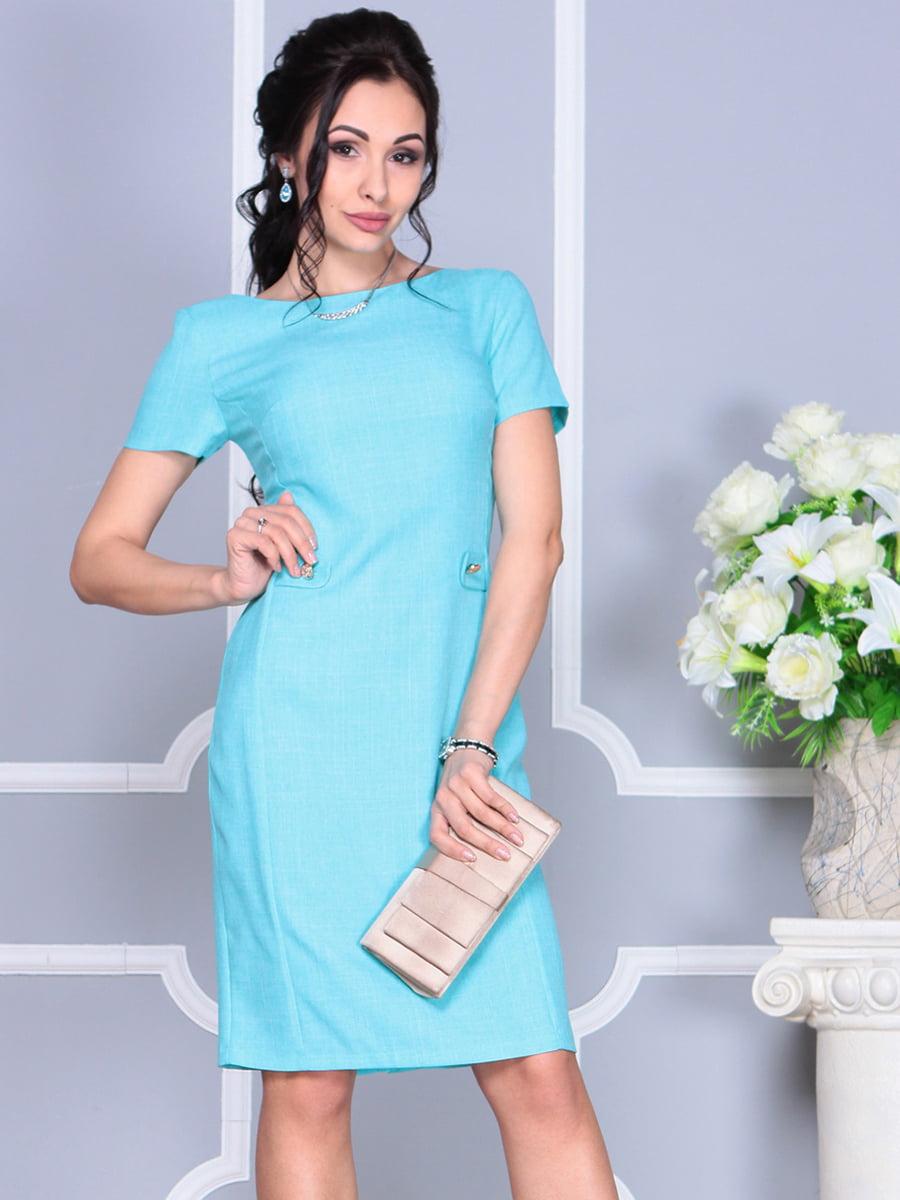 Платье светло-бирюзовое | 4137091 | фото 4
