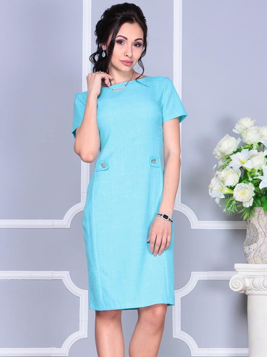 Платье светло-бирюзовое | 4137091 | фото 5