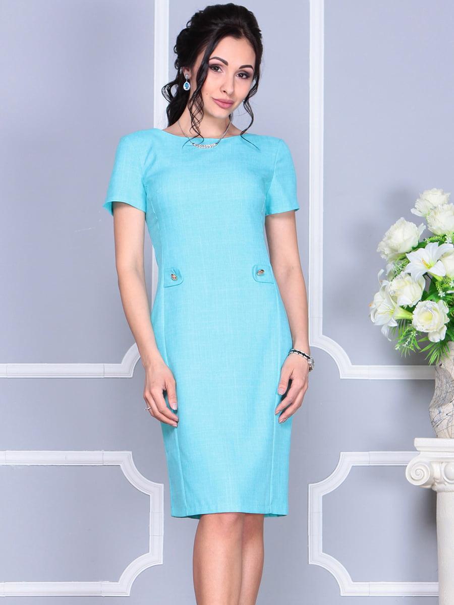 Платье светло-бирюзовое | 4137091 | фото 6