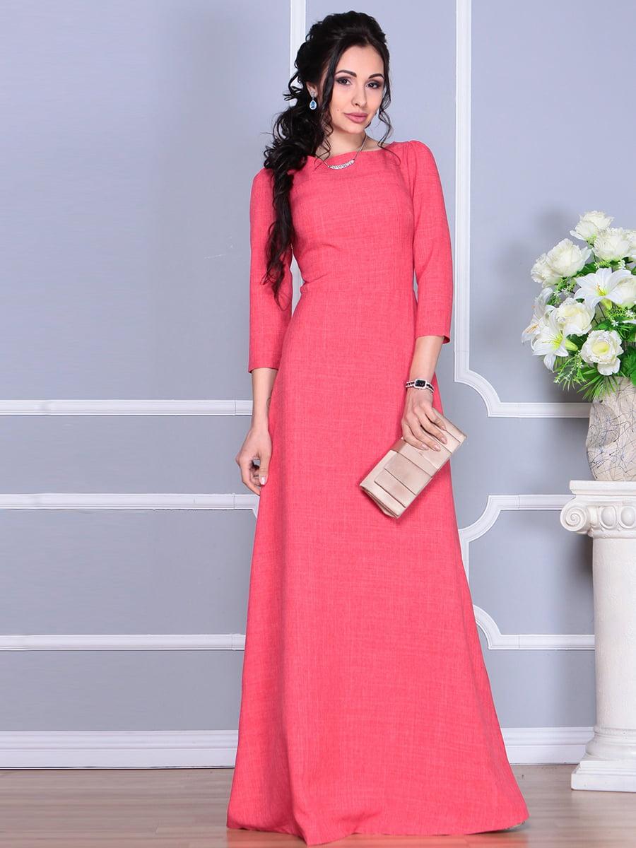 Платье цвета красный коралл | 4137096 | фото 2