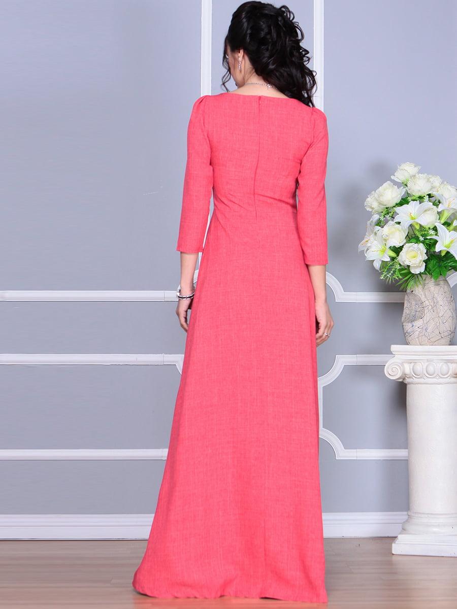 Платье цвета красный коралл | 4137096 | фото 3