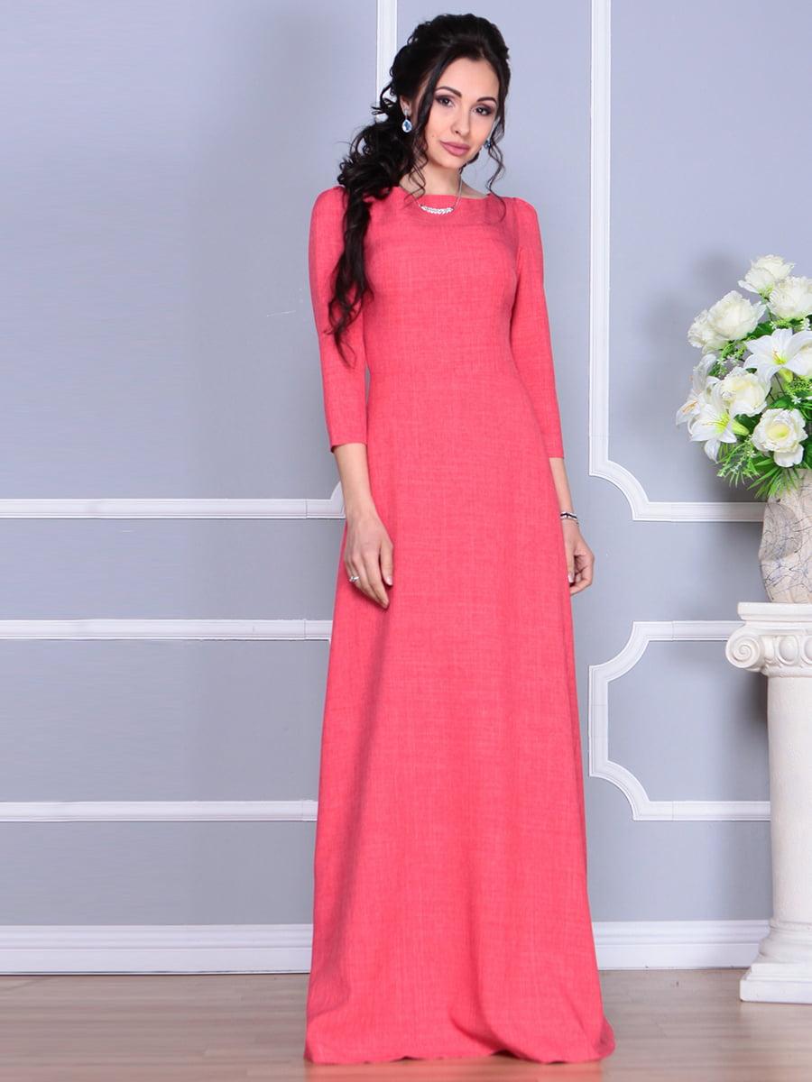 Платье цвета красный коралл | 4137096 | фото 4