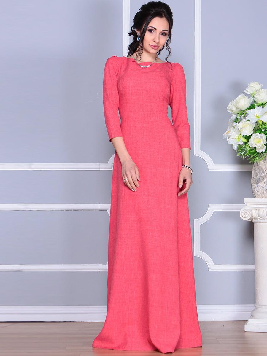 Платье цвета красный коралл | 4137096 | фото 5