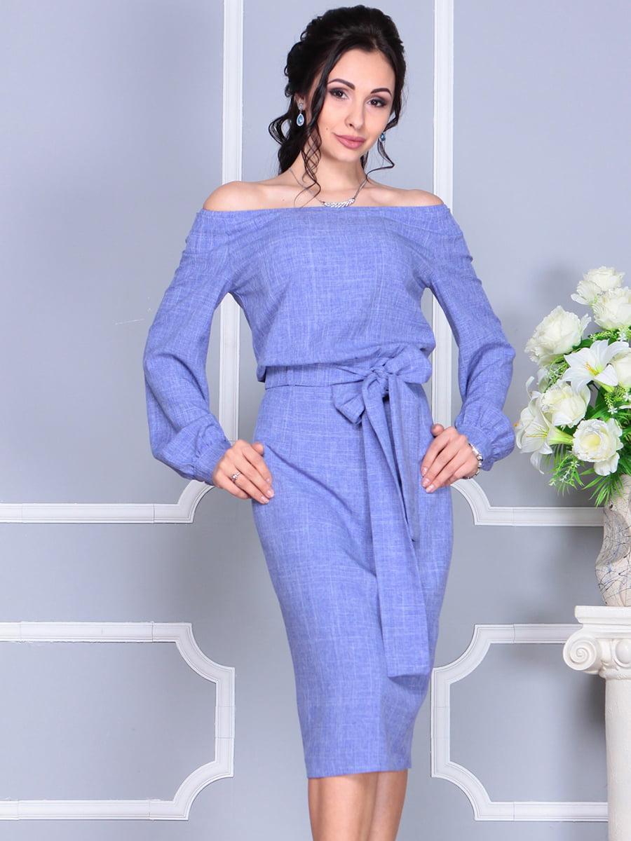 Платье фиолетовое | 4137099 | фото 5