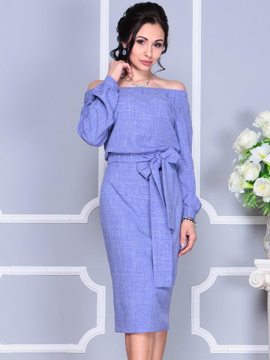 Платье фиолетовое | 4137099 | фото 6