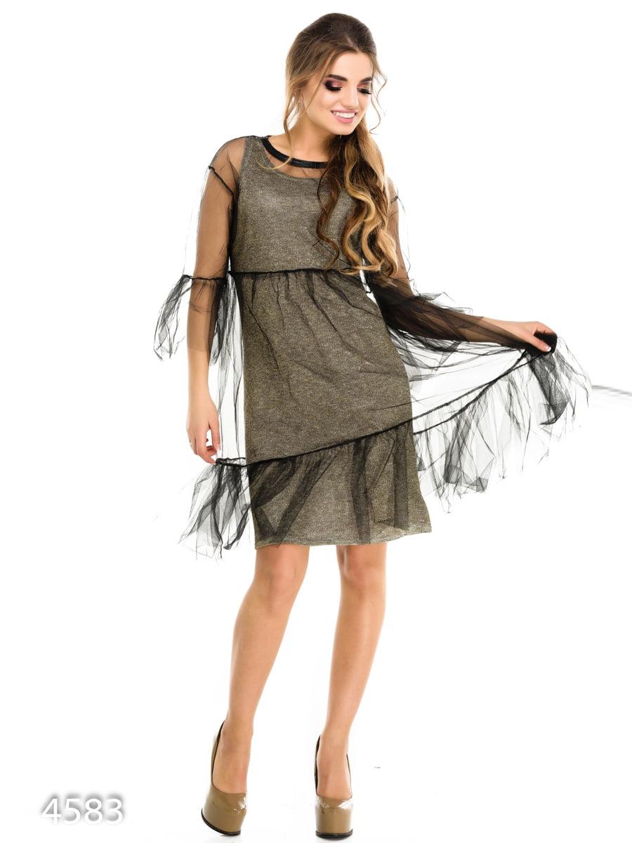 Платье цвета хаки | 3977234