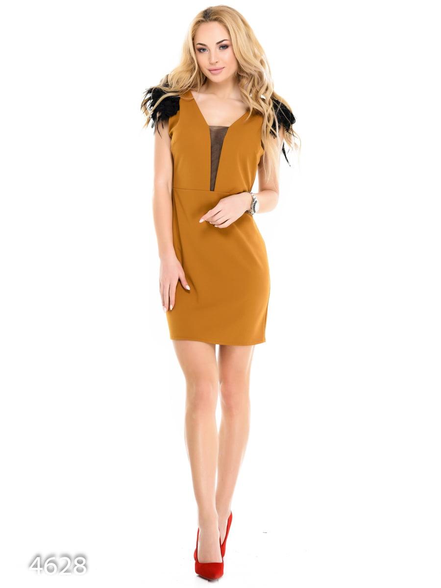 Платье горчичного цвета   3977289