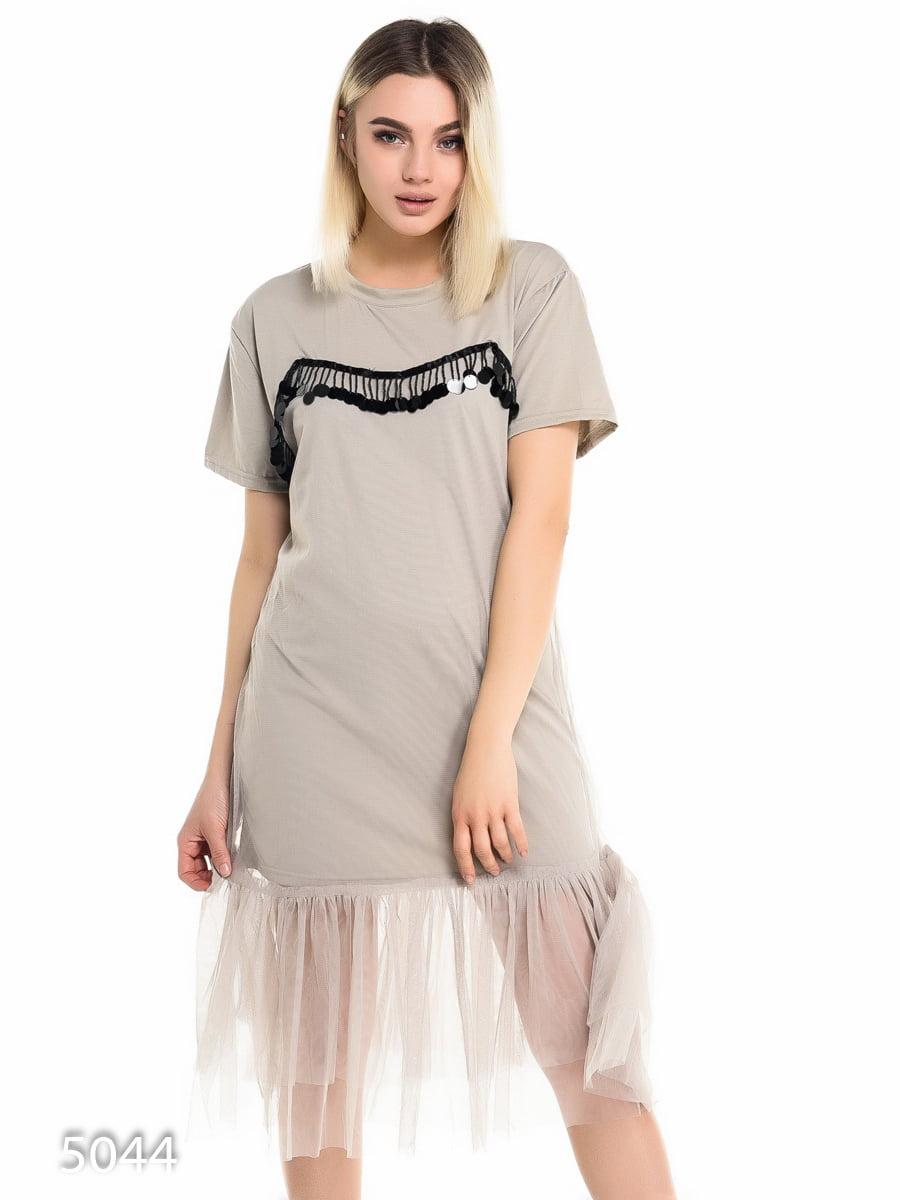 Платье серое   4137915