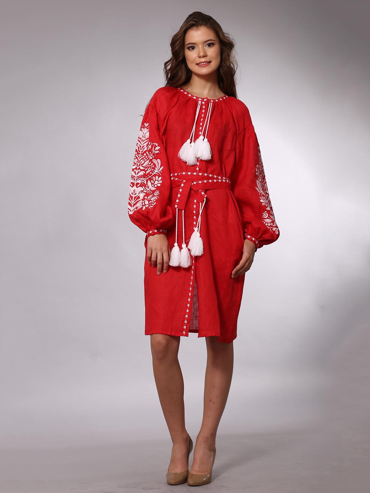 Сукня червона з вишивкою   3513249