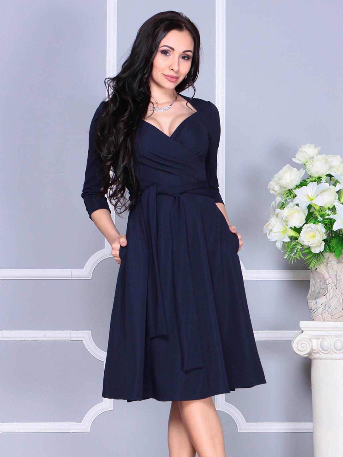 Сукня темно-синя | 4137083