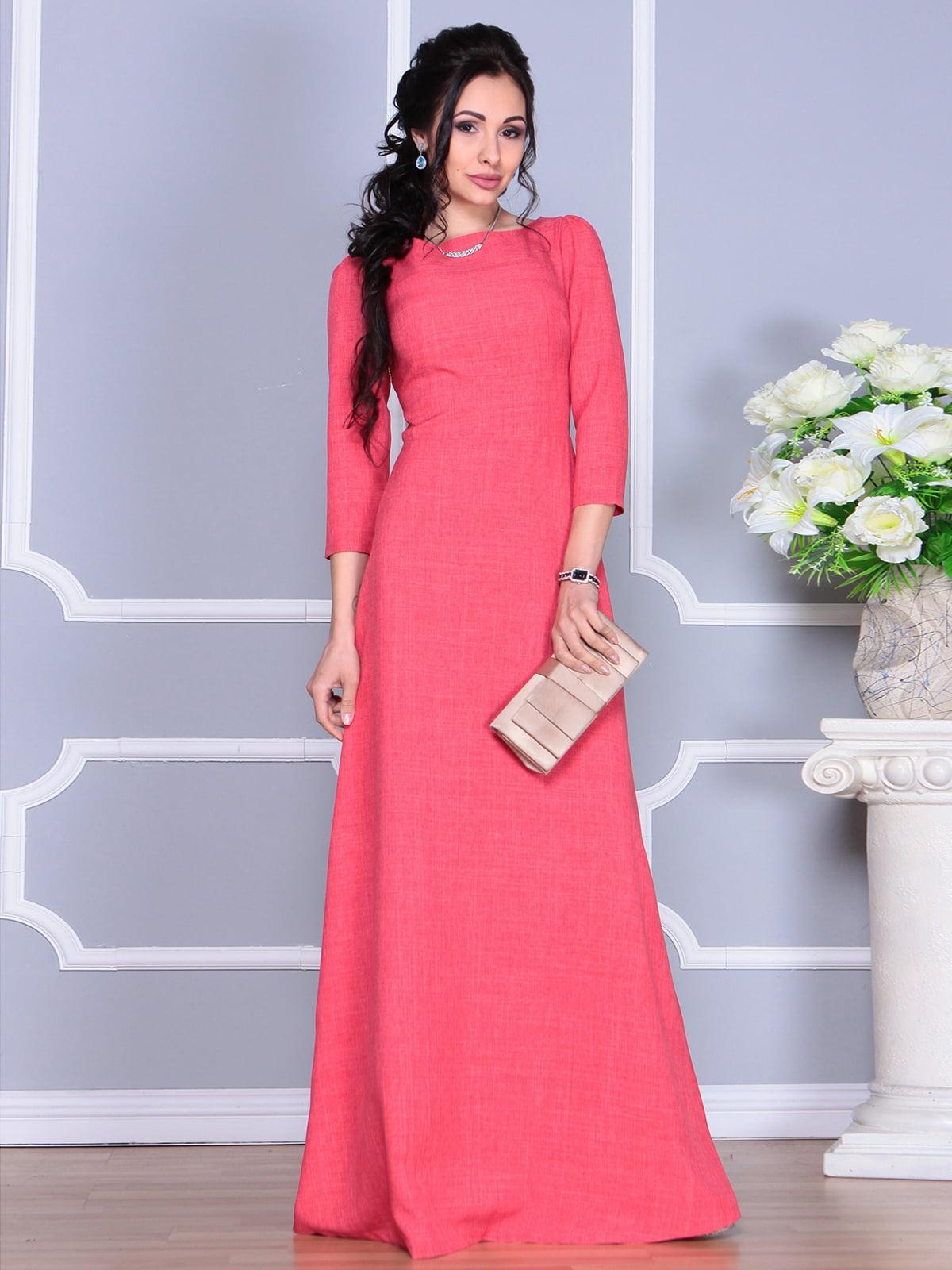 Платье цвета красный коралл | 4137096