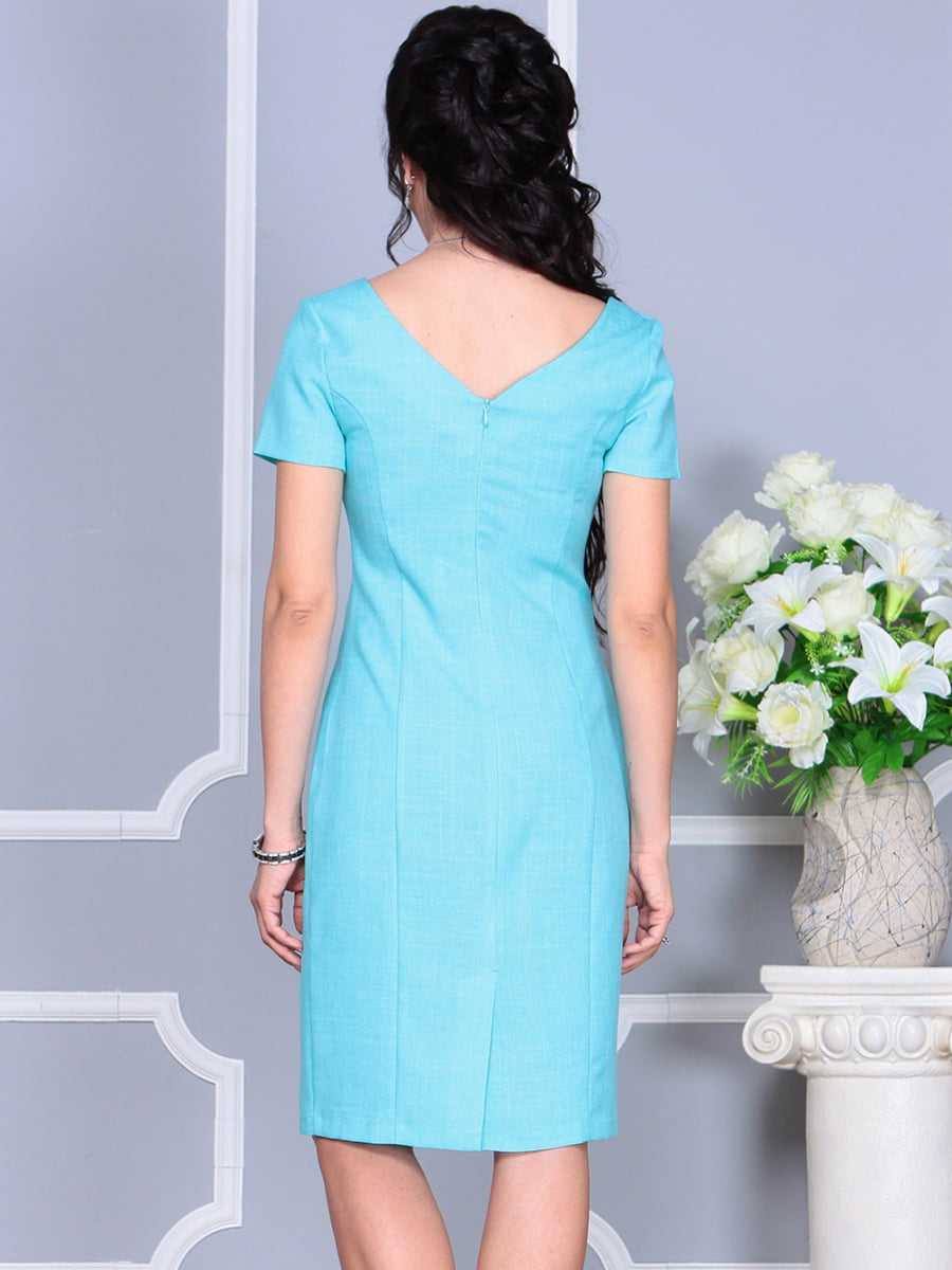 Платье светло-бирюзовое | 4137091 | фото 7