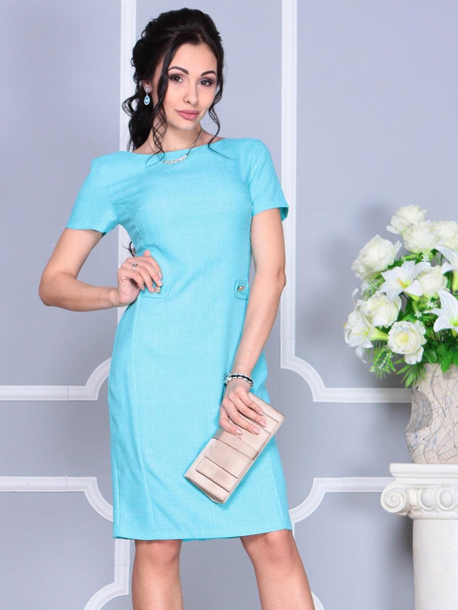 Платье светло-бирюзовое | 4137091 | фото 8