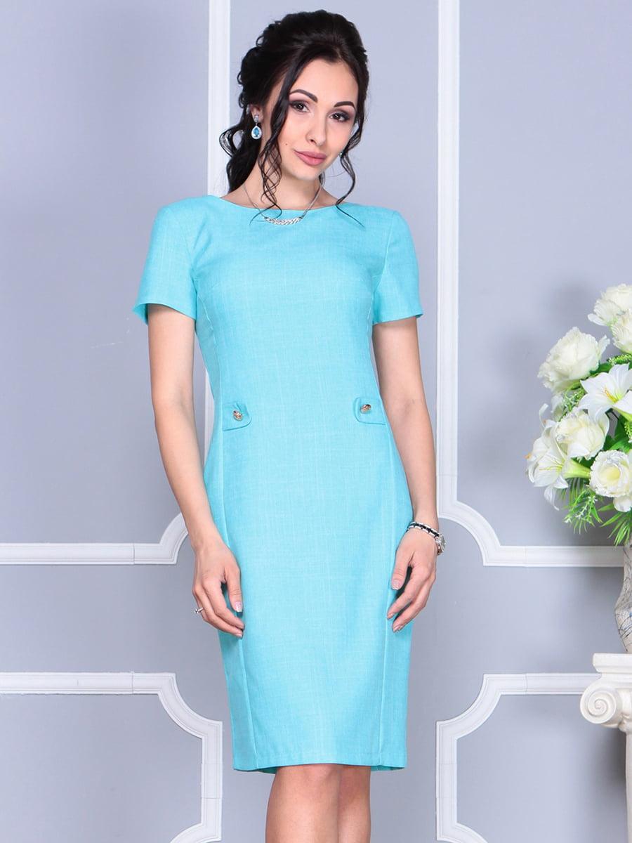 Платье светло-бирюзовое | 4137091 | фото 10