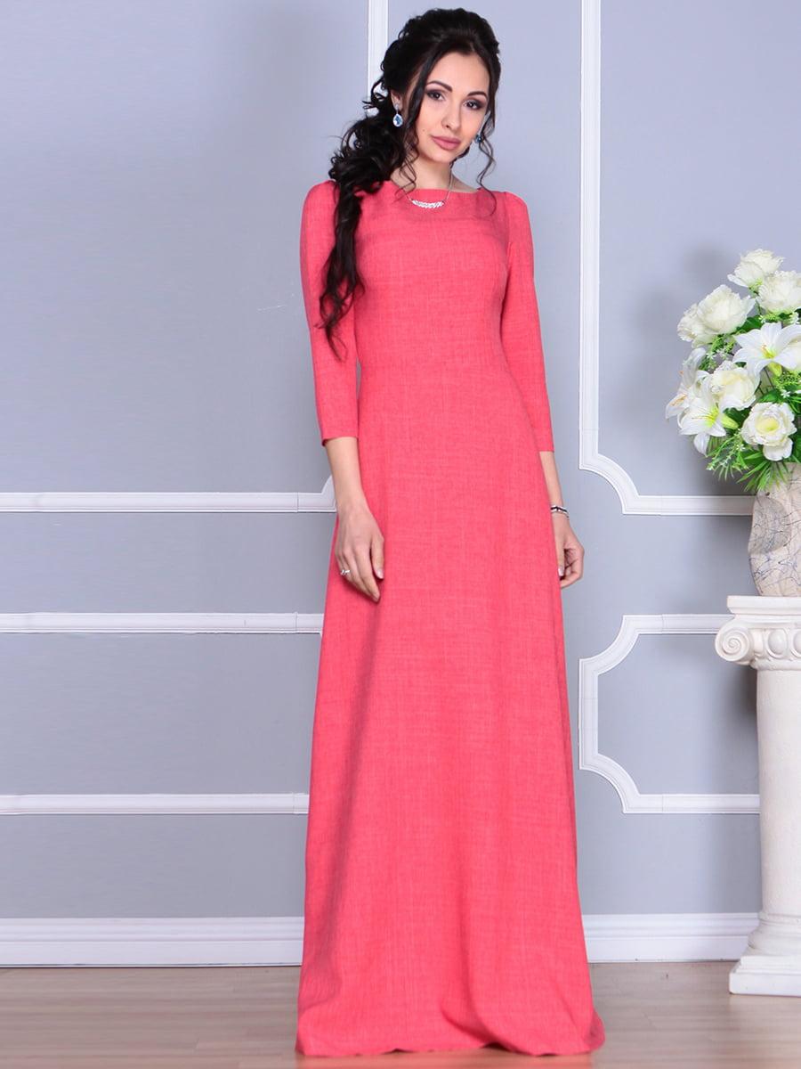 Платье цвета красный коралл | 4137096 | фото 7