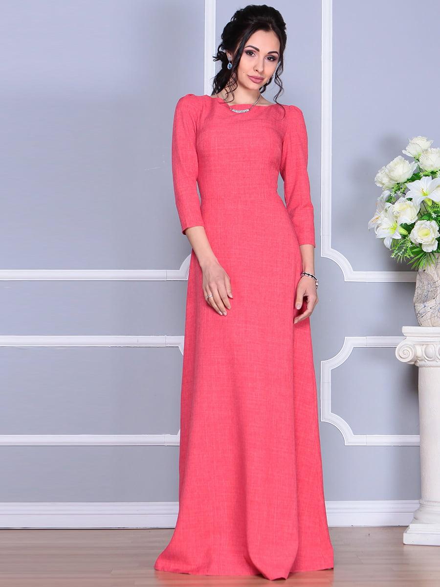 Платье цвета красный коралл | 4137096 | фото 8