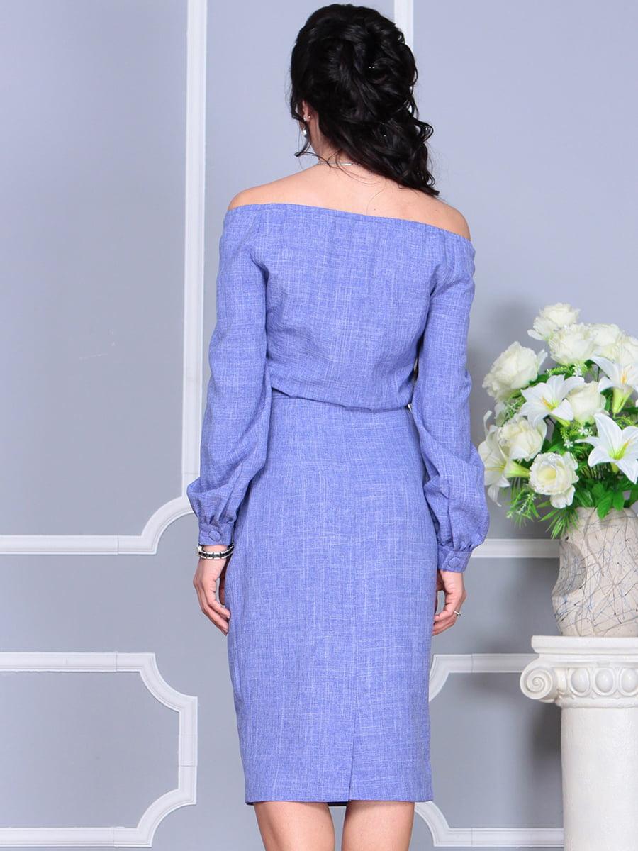 Платье фиолетовое | 4137099 | фото 7