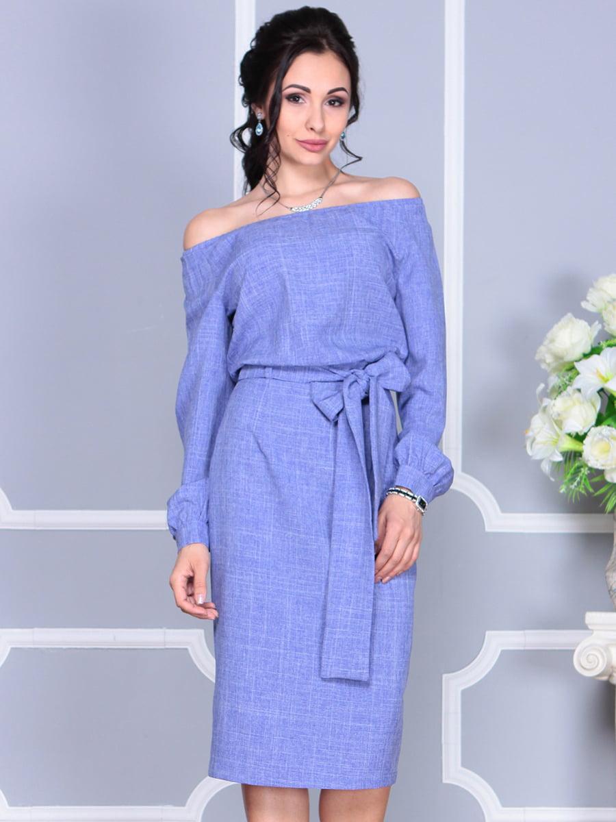 Платье фиолетовое | 4137099 | фото 8