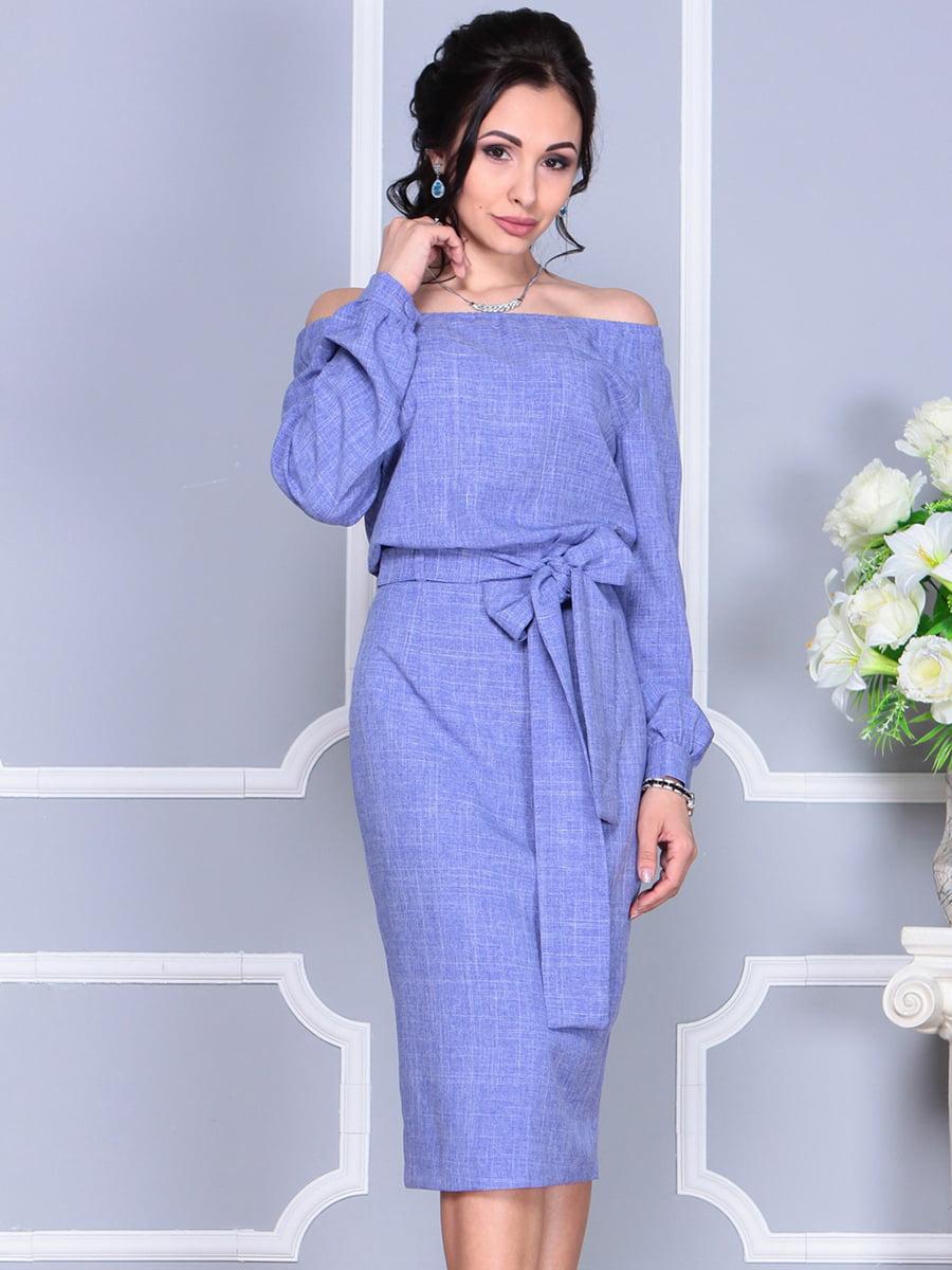 Платье фиолетовое | 4137099 | фото 10