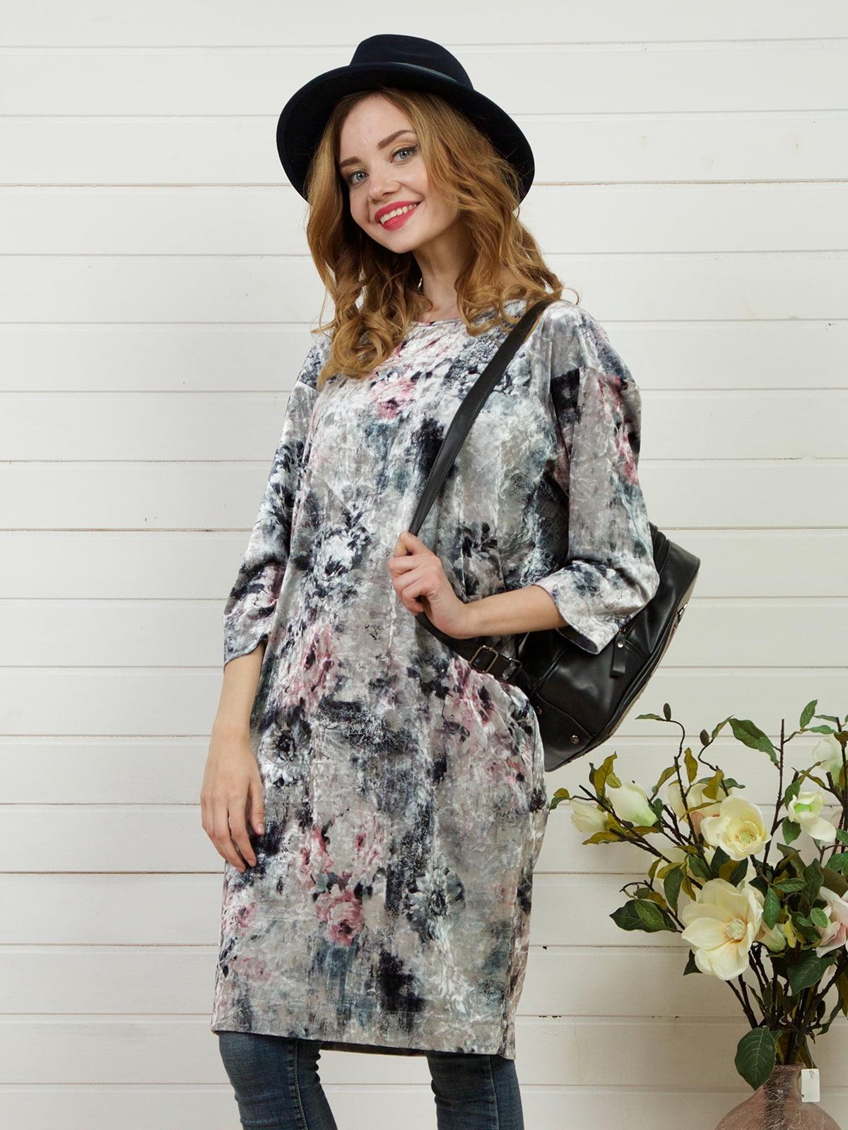Платье серое | 4141263