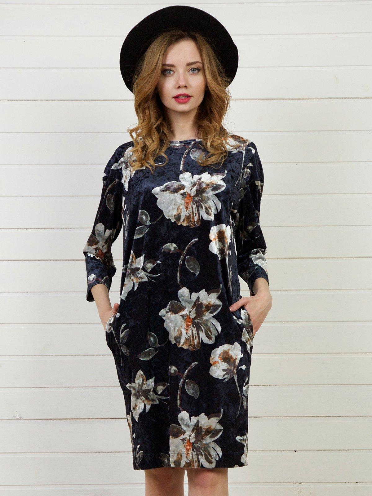 Платье в цветочный принт | 4141267