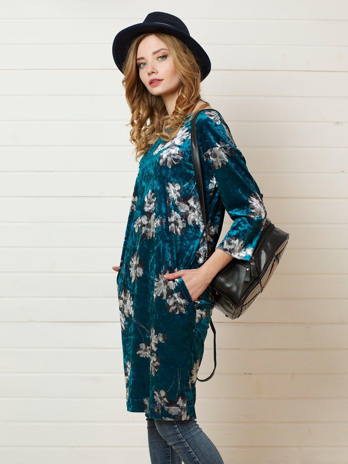 Платье бирюзовое | 4141276