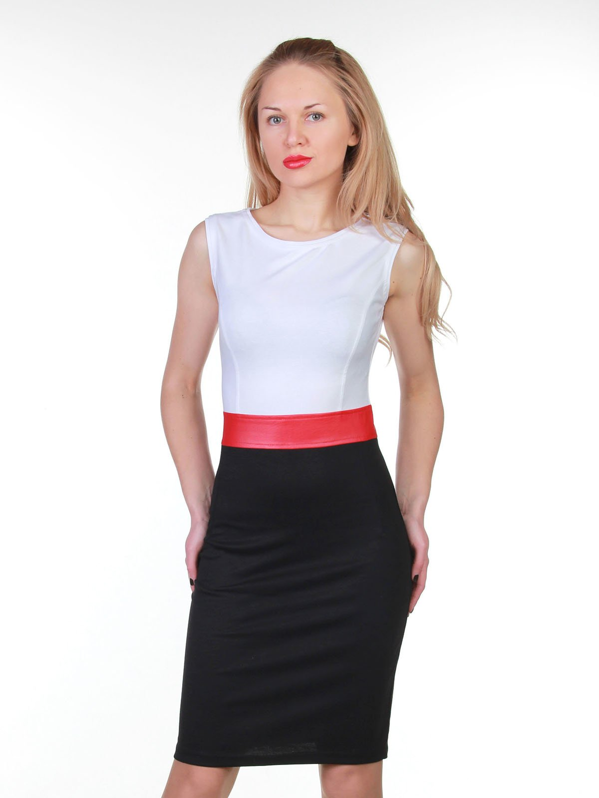 Сукня біло-чорна | 3823418