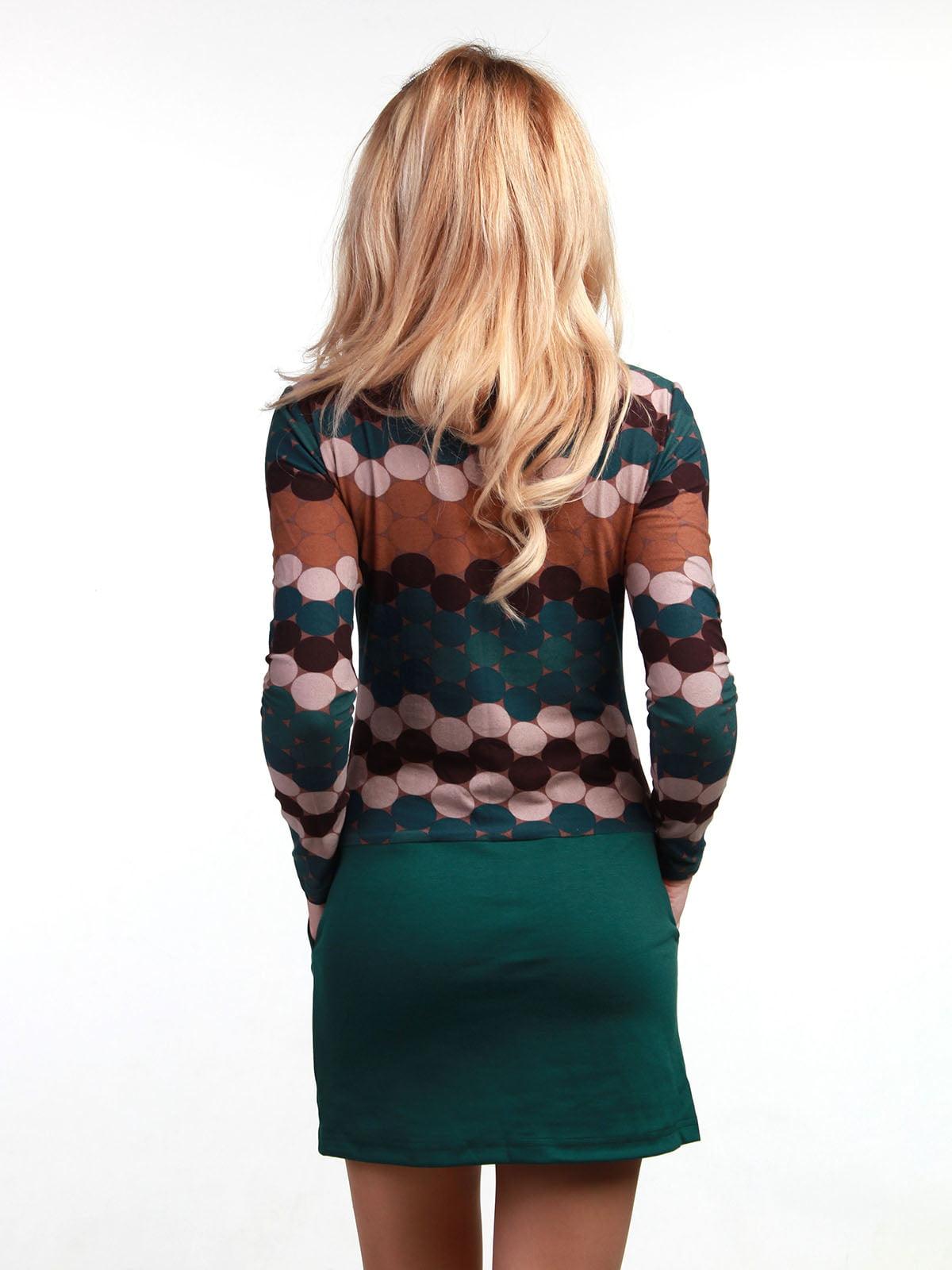 Сукня зелена з принтом   3823433   фото 2