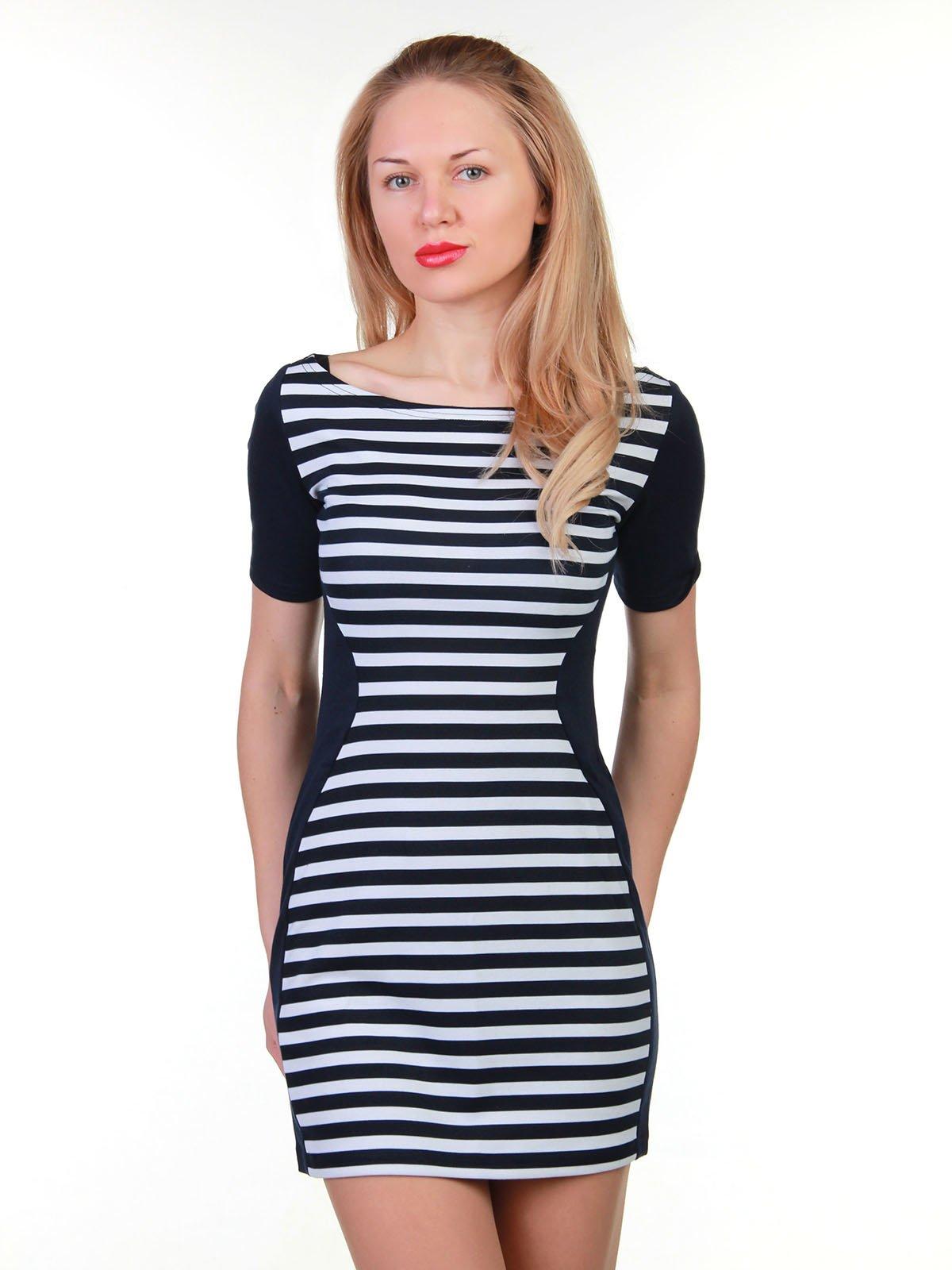 Платье сине-белое в полоску | 3823437