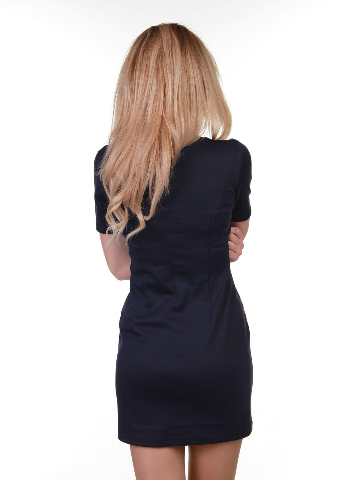 Платье сине-коралловое в полоску | 3823438 | фото 3