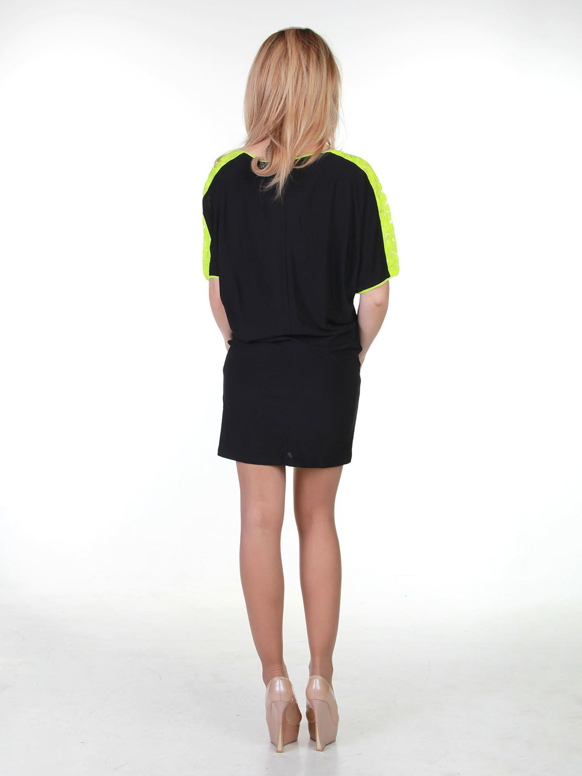 Платье черно-лимонное | 3823449 | фото 2