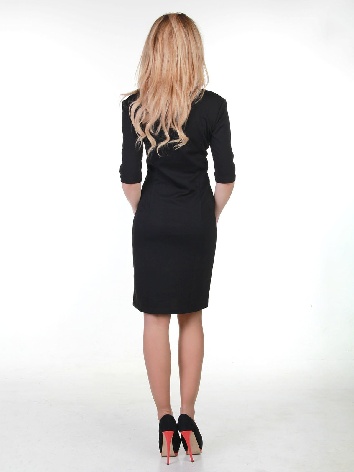 Сукня чорно-біла в принт | 3823460 | фото 2