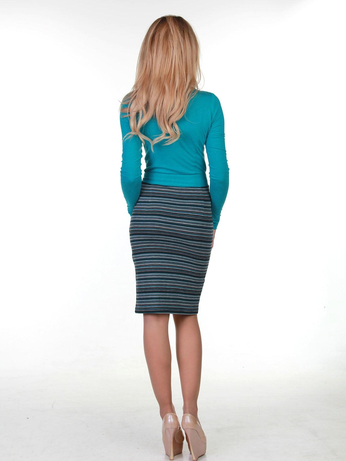 Сукня бірюзова в смужку | 3823452 | фото 2