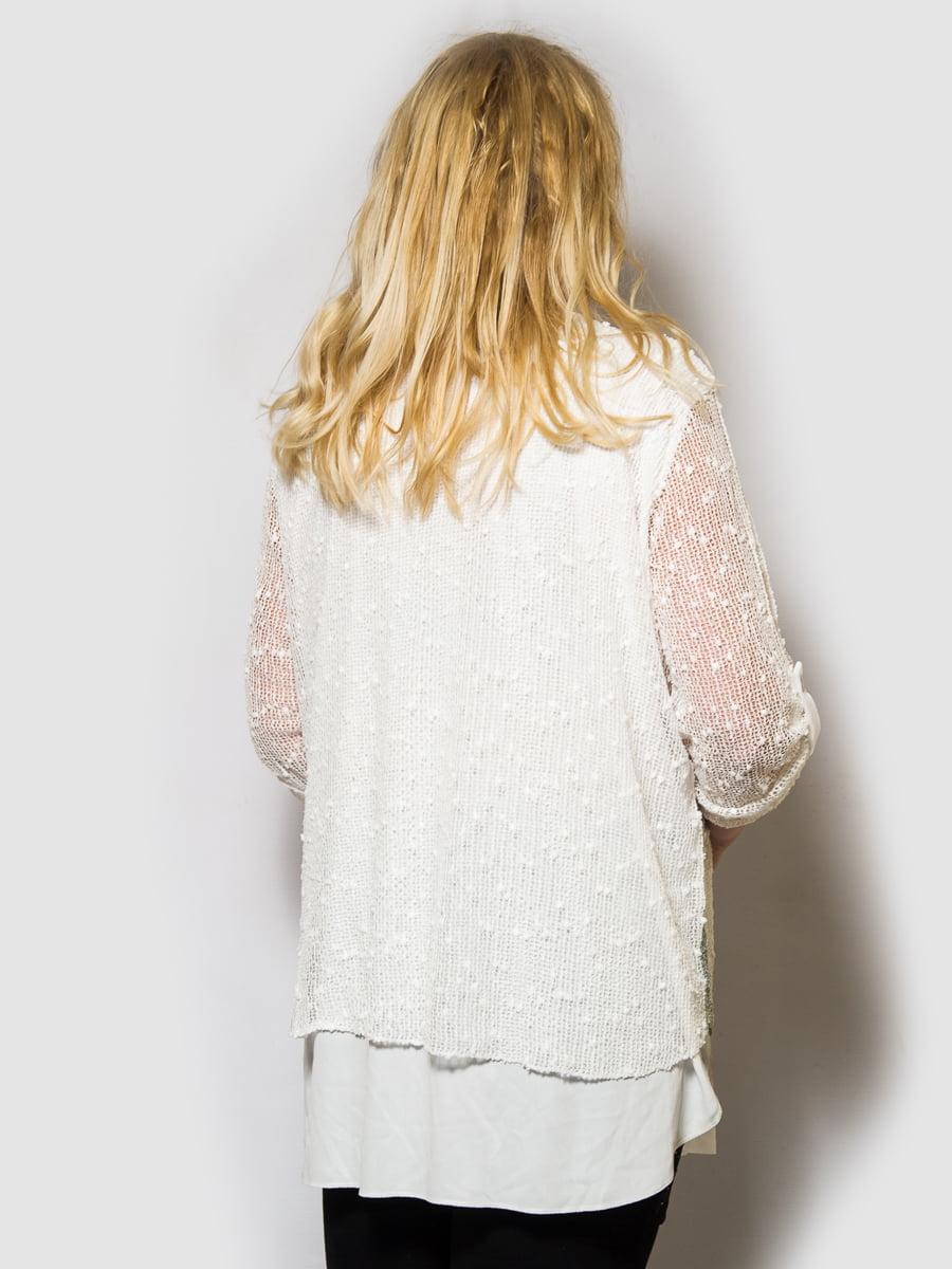 Блуза біла з принтом | 4143945 | фото 2
