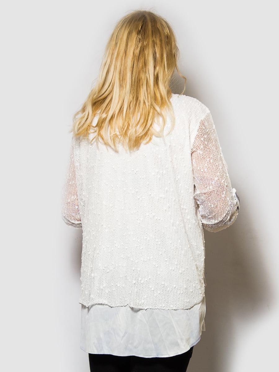 Блуза белая с цветочным принтом | 4143949 | фото 2