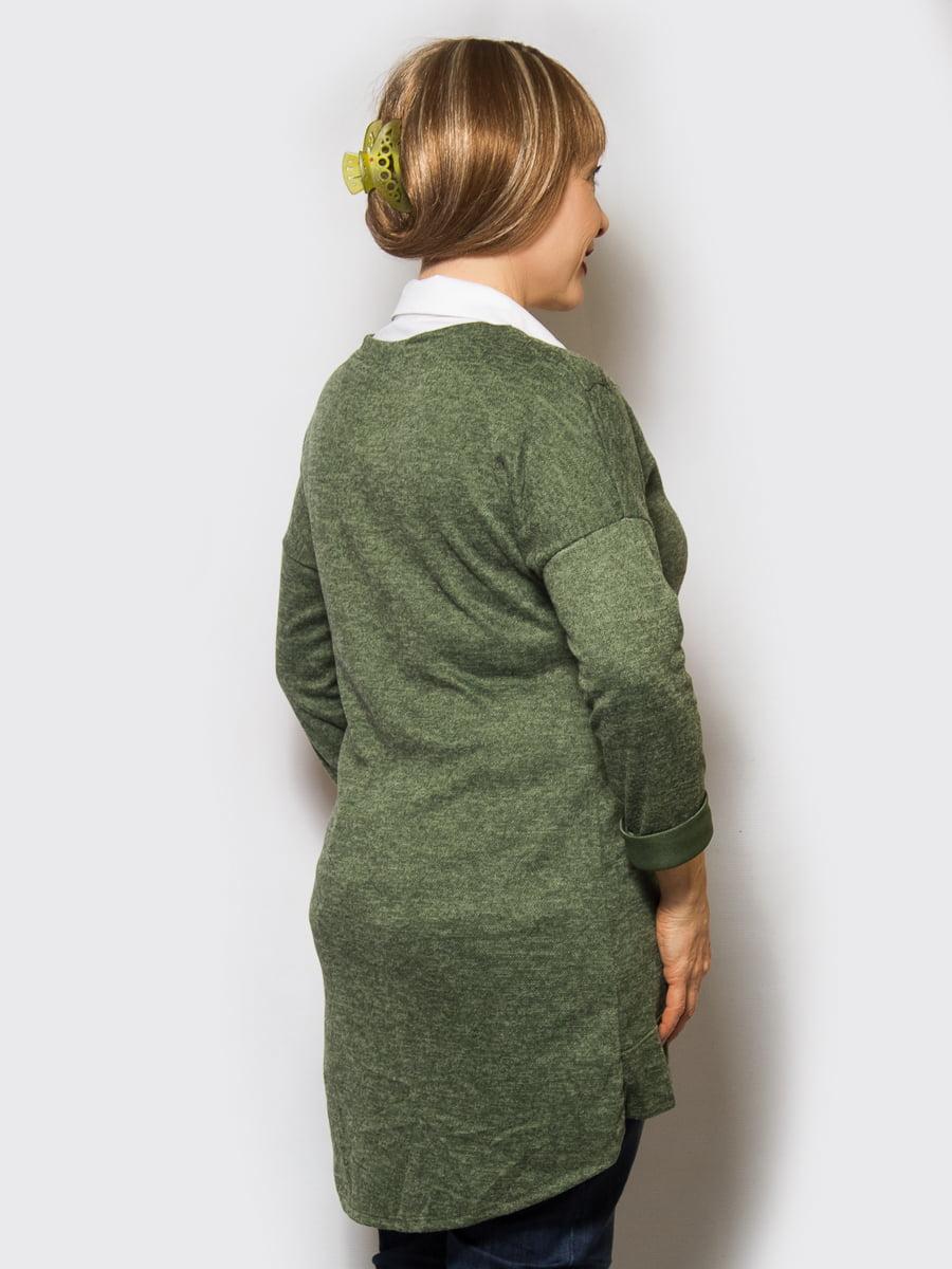 Джемпер зеленый | 4143964 | фото 2