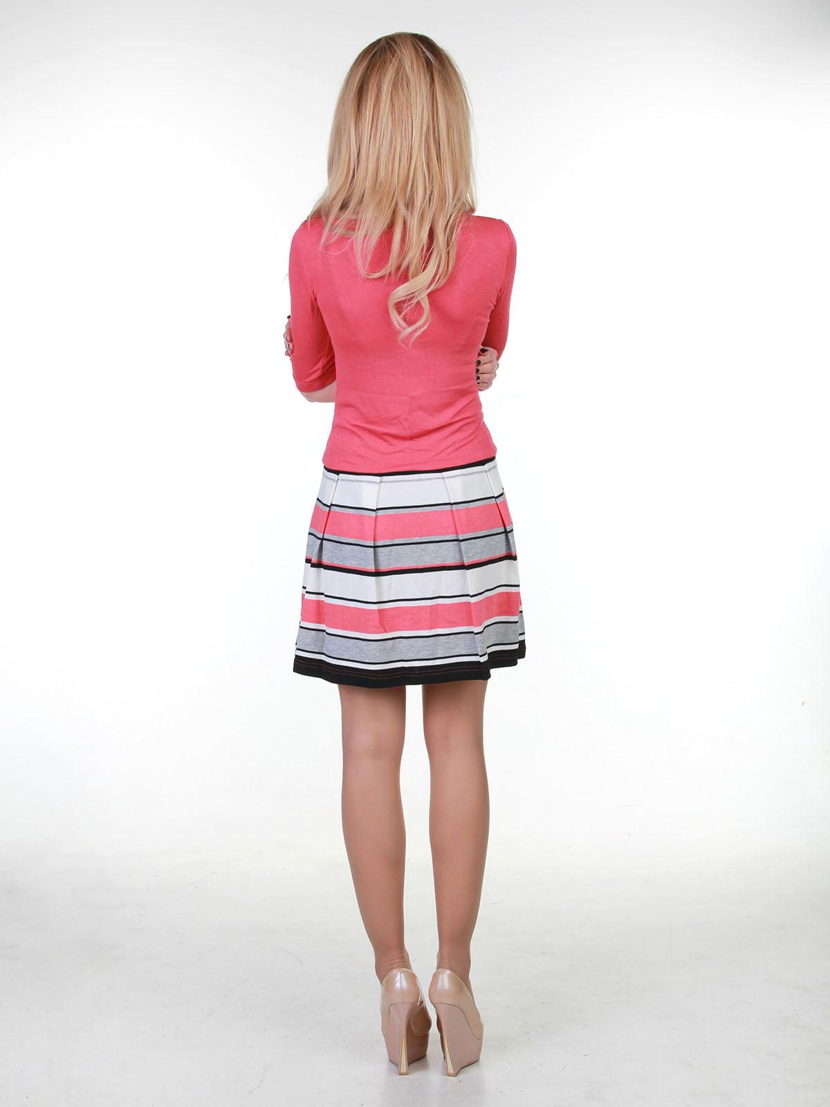 Сукня коралова в смужку | 3823470 | фото 2