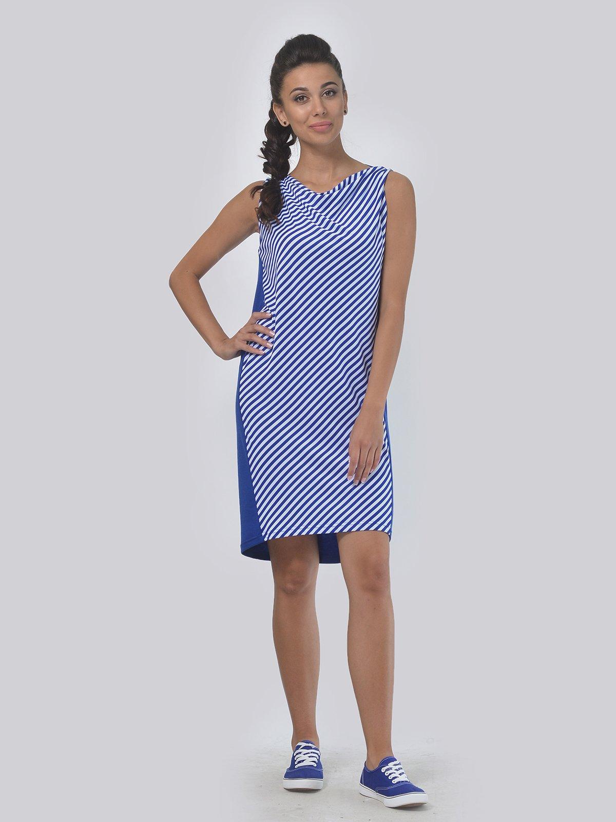 Платье синее в полоску | 4142089