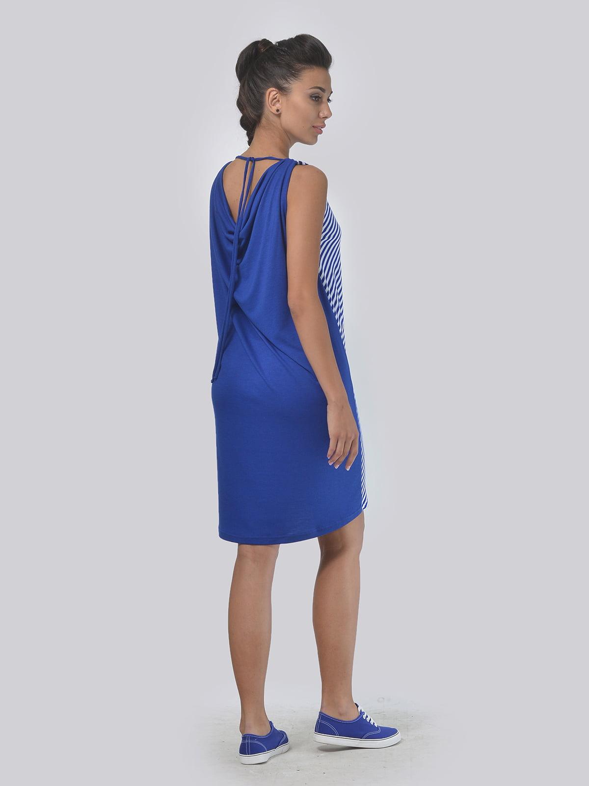 Платье синее в полоску | 4142089 | фото 2