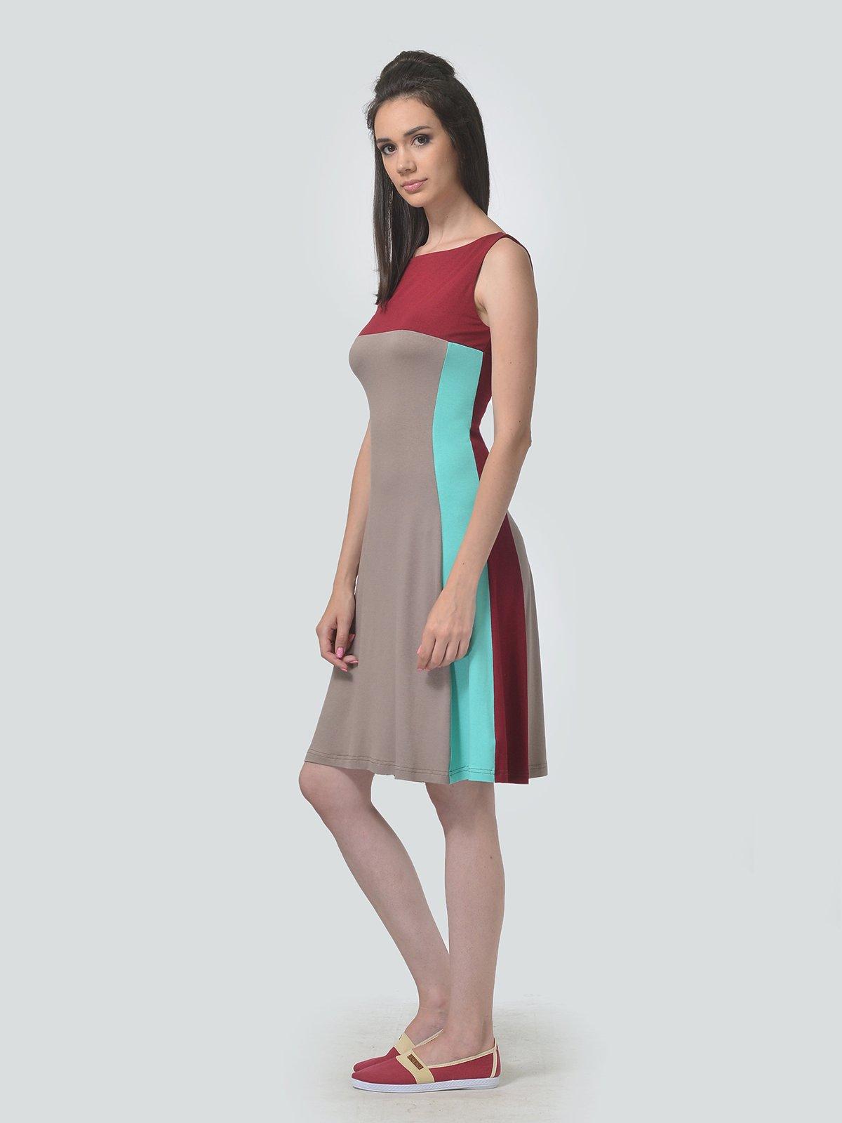 Платье трехцветное   4142158