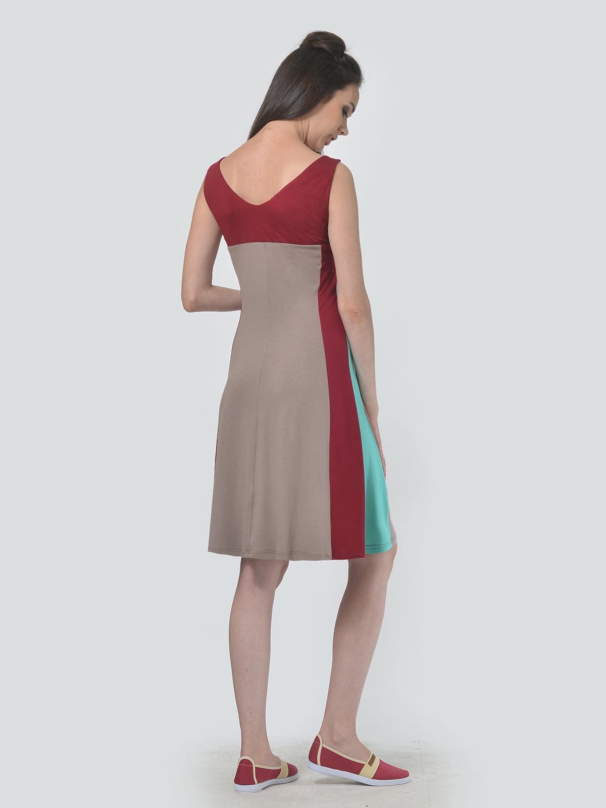 Платье трехцветное   4142158   фото 2
