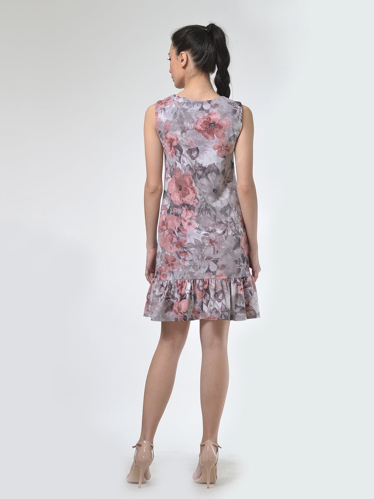 Платье бежевое в цветочный принт | 4142250 | фото 4