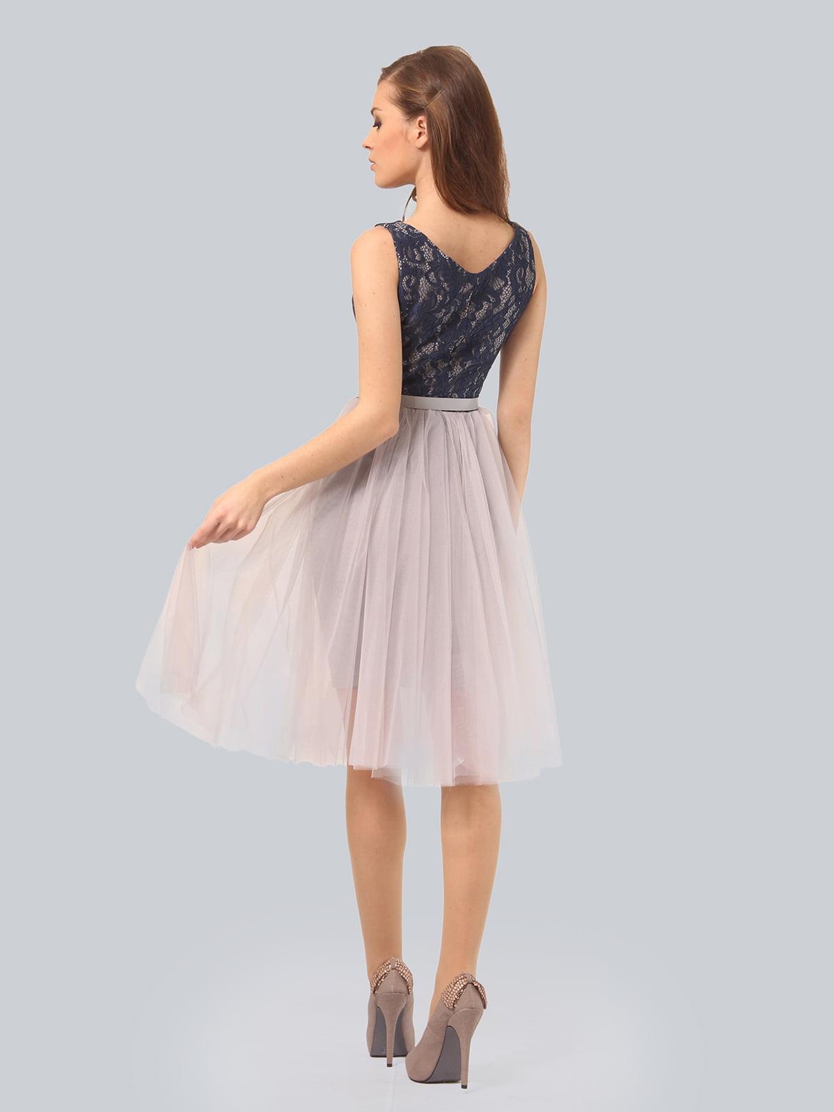 Платье светло-серое | 4090675 | фото 2