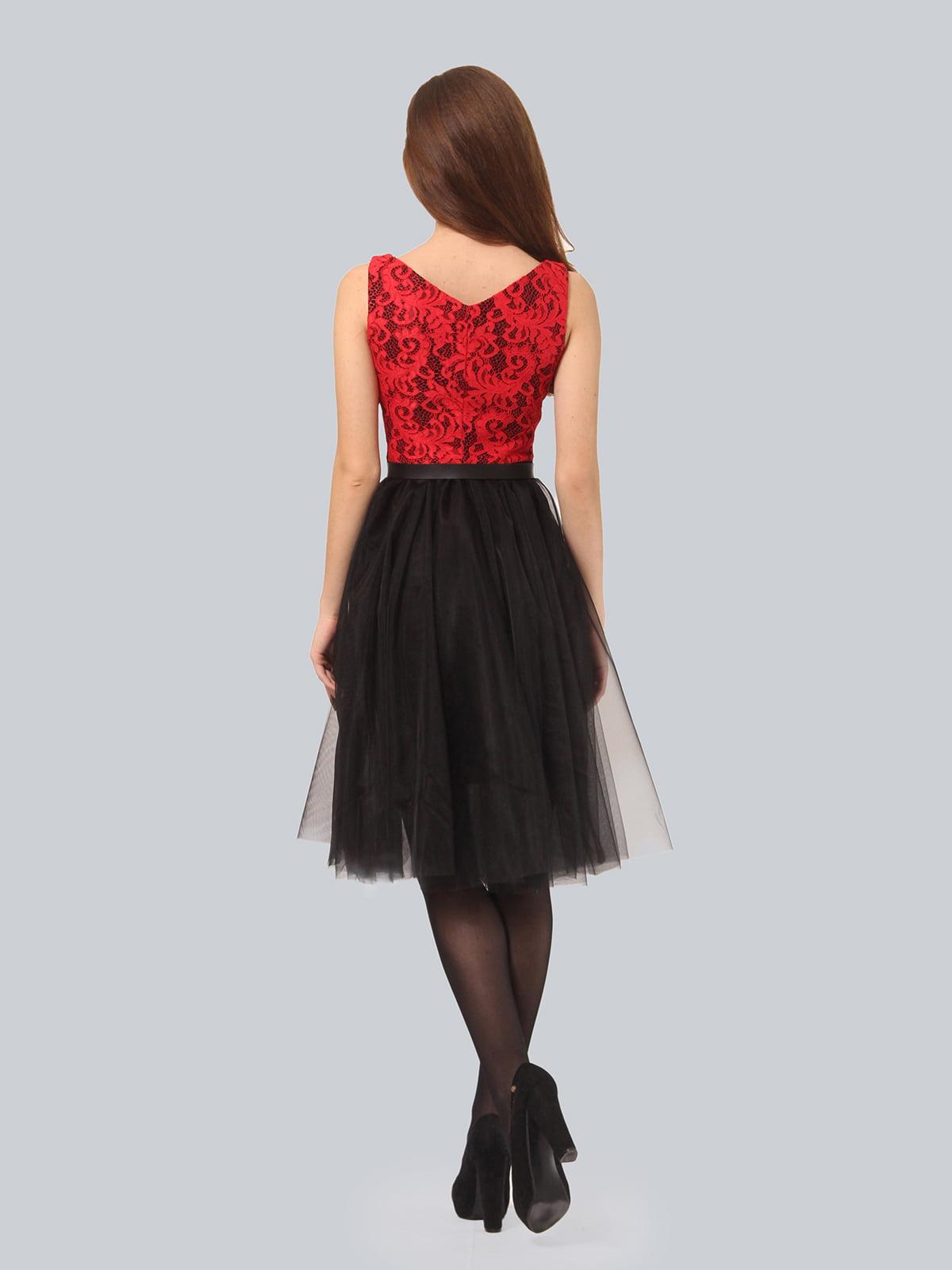 Платье черно-красное | 4090676 | фото 6