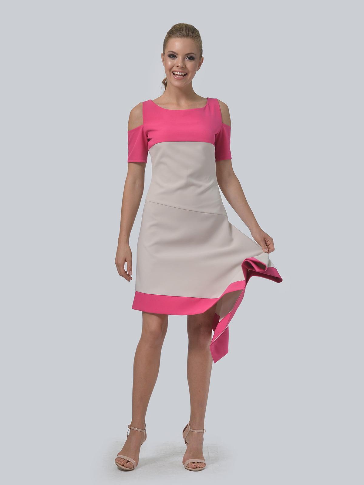 Платье двухцветное   4090706   фото 3