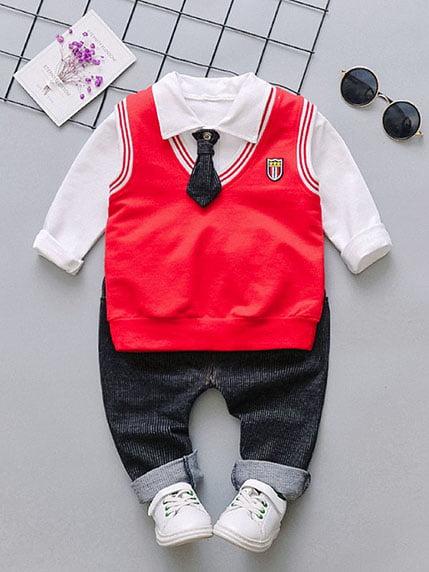 Костюм: сорочка, штани, жилет і краватка | 4144611