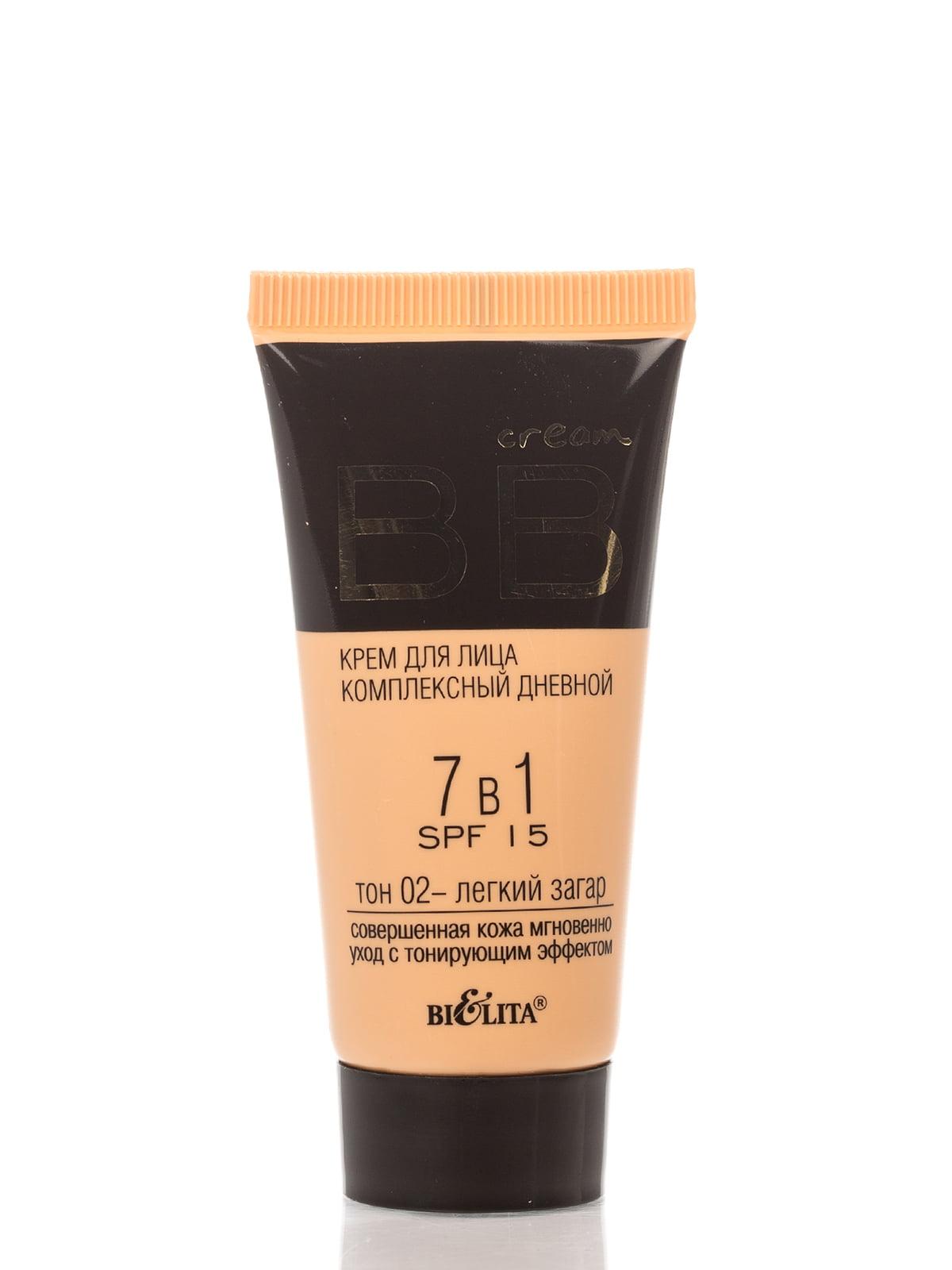 Комплексний денний BB крем для обличчя 7в1 SPF 15 - тон 02 легка засмага (30 мл) | 4138771