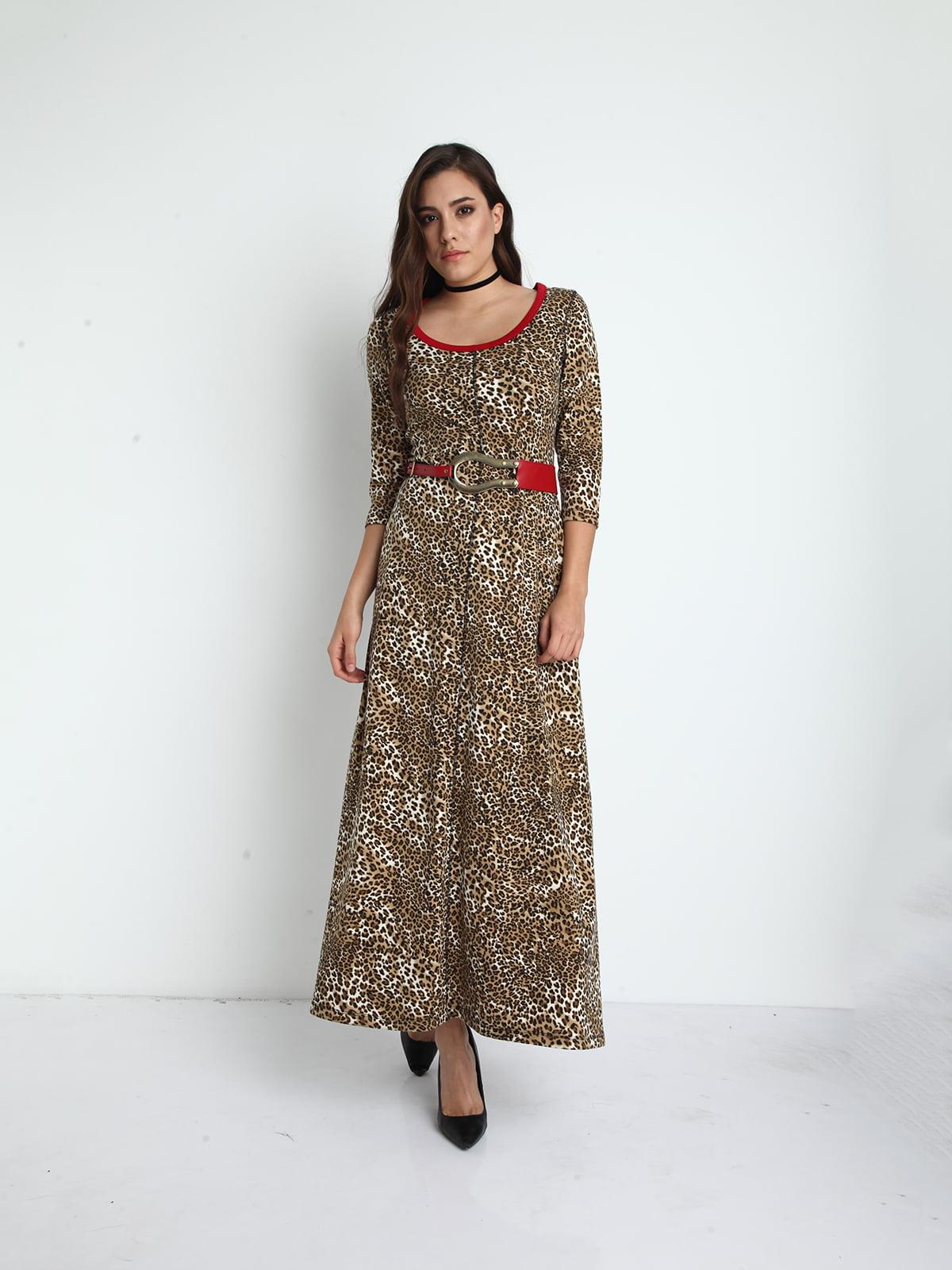 7f6fe7931b8 Платье коричневое в анималистический принт — Jus de Pommes