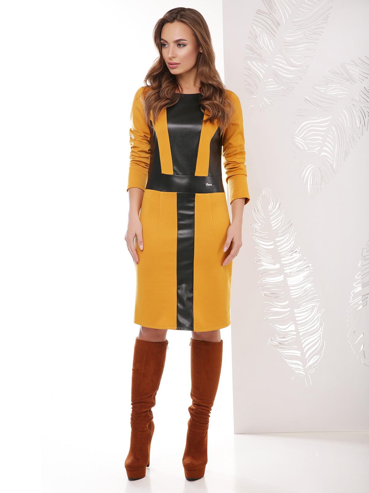 Платье горчичного цвета | 4151495